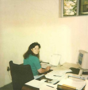 Anna Smith, working at our first office location
